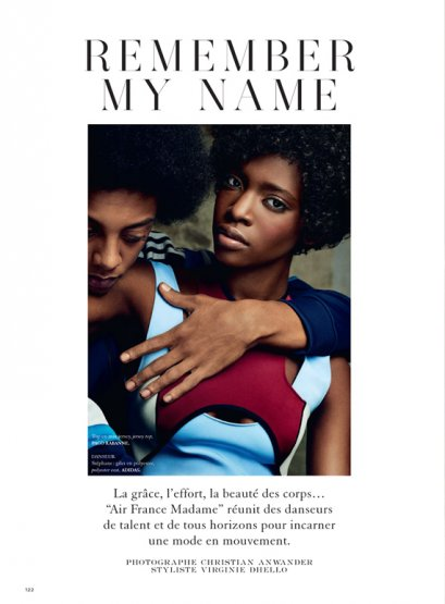 Marie Fofana en couverture de Madame Air France