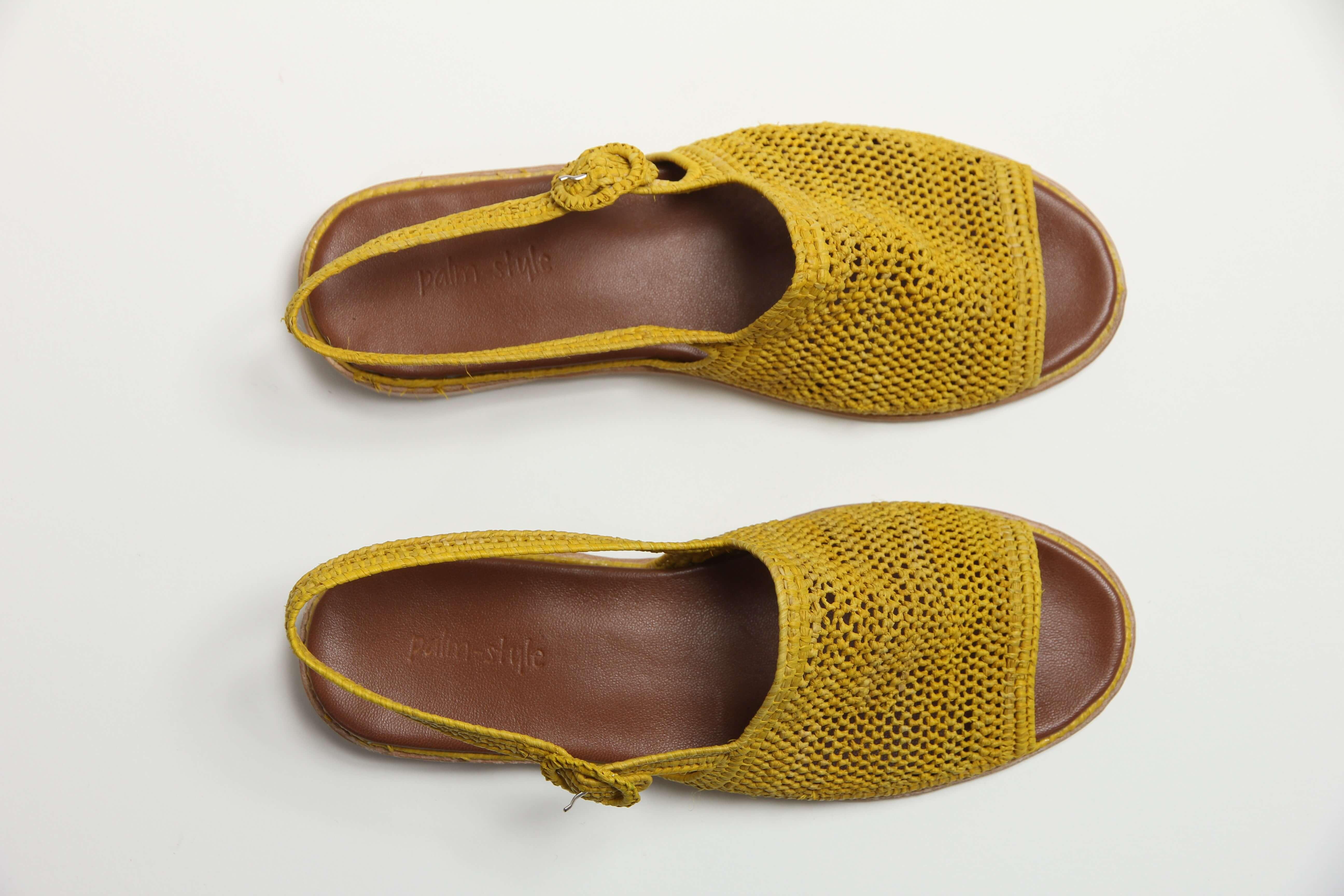 MoonLook sandales en raphia _2782