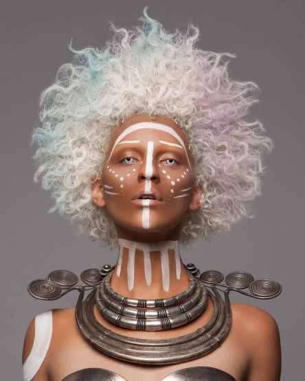 La finaliste des British Hair Awards 2016