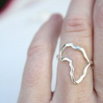 Africa silver ring