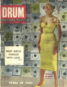Drum Magazine, Miriam Makeba Cover, June 1957, © BAHA (Baileys African History Archive) Drum photographer