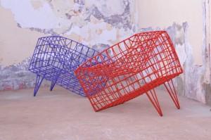 Cheick Diallo, »Fauteil Sansa bleu«, 2011, Sessel, © Cheick Diallo