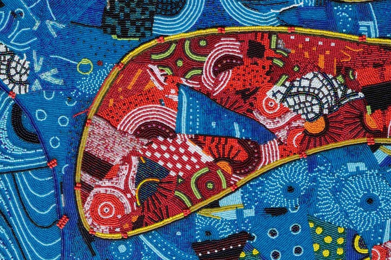 Lizette Chirrime, 'Sun Goddess' (detail), In collaboration with Qubeka Bead Studio