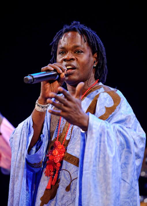 Africa Utopia's host Baaba Maal.