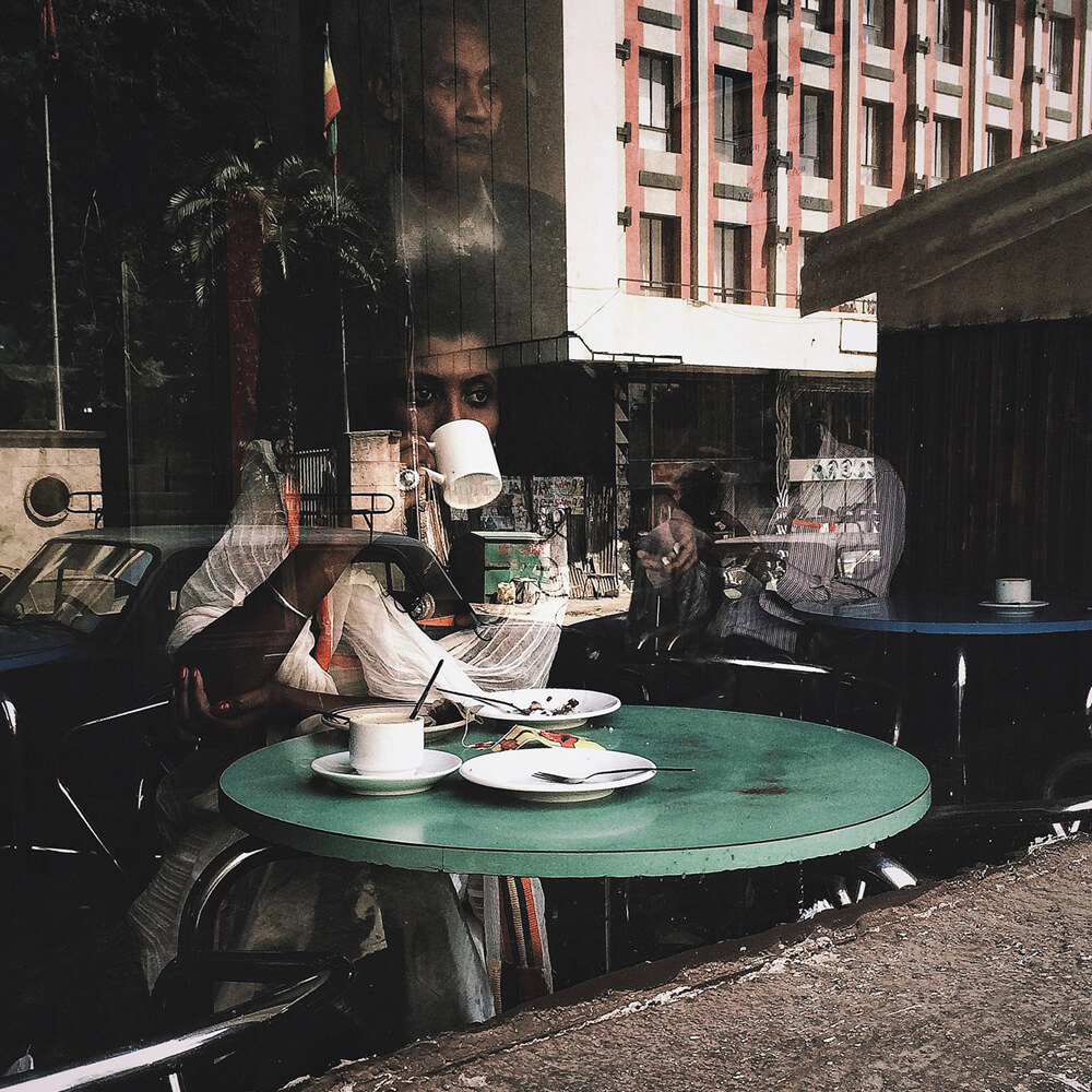 "Ethiopian photographer Girma Berta ""Pensive"". Photo courtesy of David Krut Projects"