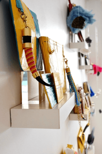 Luxury handbag and accessory brand Okapi on display at the Merchants on Long pop-up store.
