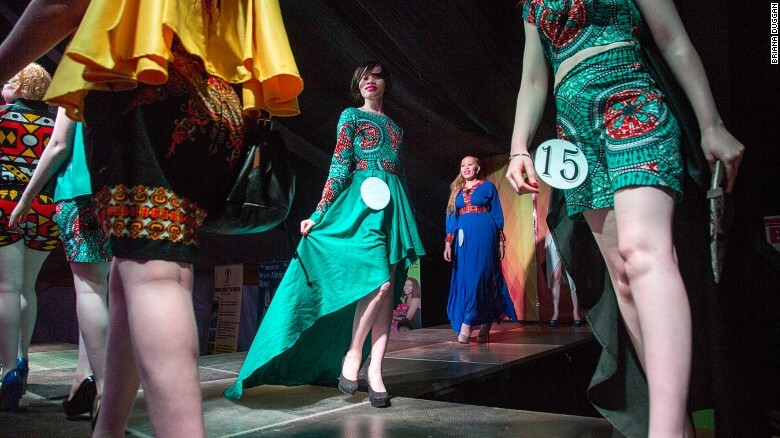 Contestants parade around the stage flaunting their beautiful gowns. Image credit: Briana Duggan.