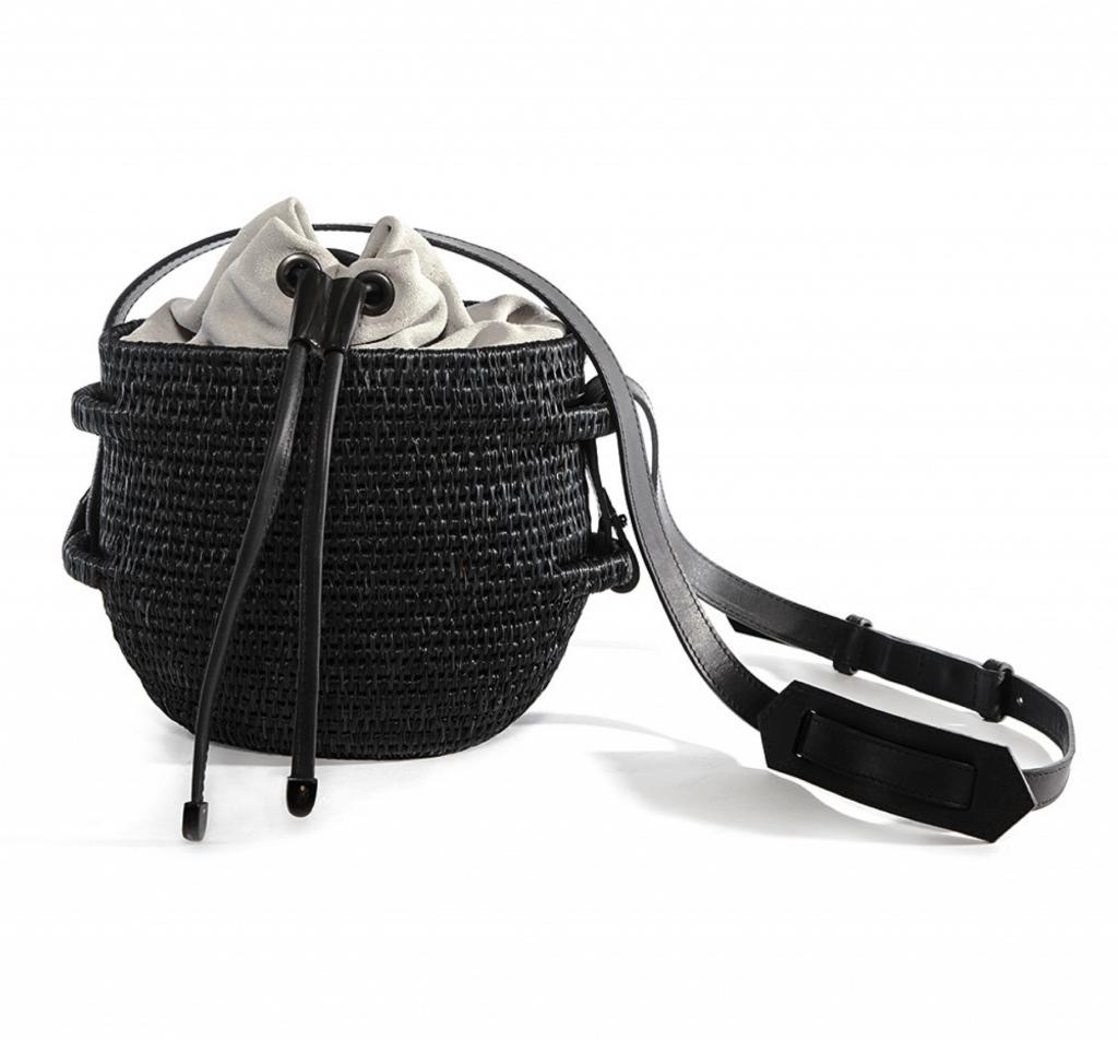 Thembi Bucket Bag in Black & Grey