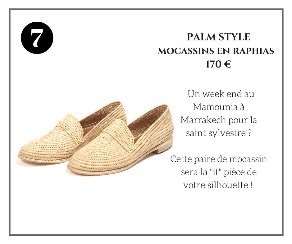 Palm Style Mocassins en Raphias